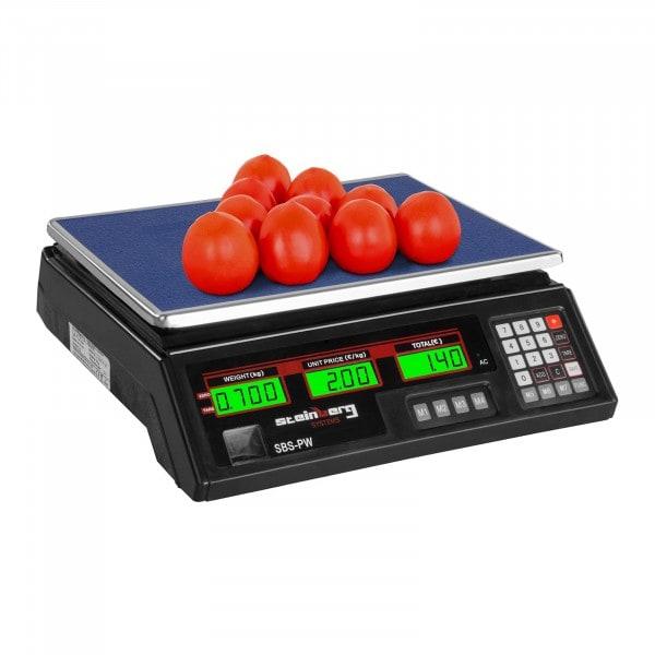 B-termék Árszorzós mérleg- 35 kg / 2 g - fekete - LED