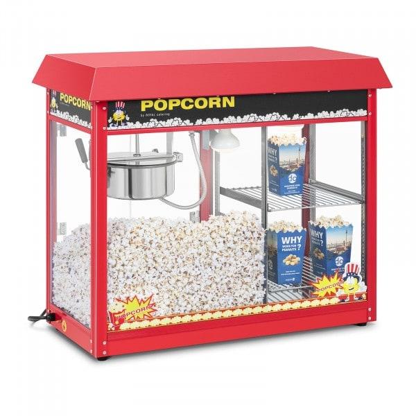 Pop-corn készítő gép - fűtött tároló - piros