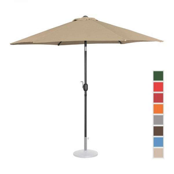 B-termék Nagy napernyő - tópszínű - hatszögletű - Ø 270 cm - dönthető