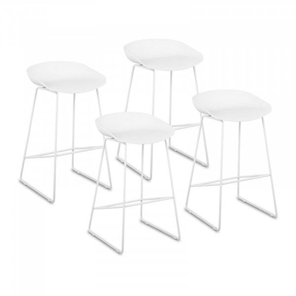 B-termék Bárszék - 4 db-os készlet - 150 -ig kg - ülőfelület 38 x 36 cm - fehér