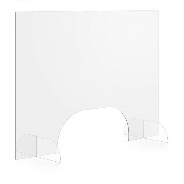 B-termék Akril védőfal - 100 x 70 cm - akrilüveg - 50 x 20 cm-es nyílás