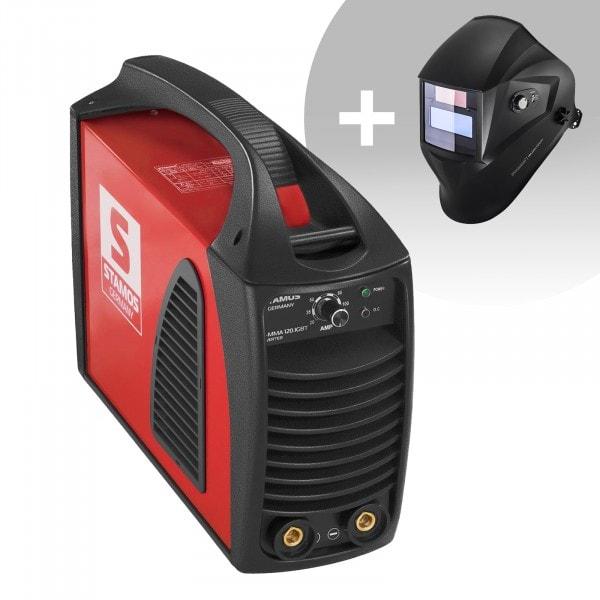 Hegesztő készlet MMA hegesztőgép - 120 A - Hot Start - IGBT + Hegesztő sisak - Operator - EASY SERIES