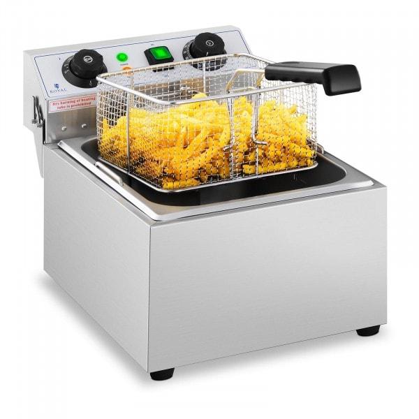 Vendéglátóipari fritőz - 10 liter - időzítő - 230 V