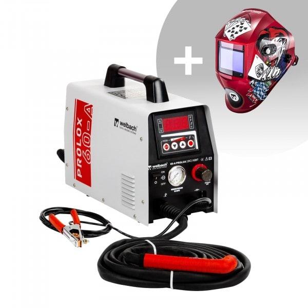 Hegesztő készlet Plasmaschneider - 40 A - 230 V - digitalis - Pilot gyújtás + Hegesztő sisak – Pokerface – PROFESSIONAL SERIES