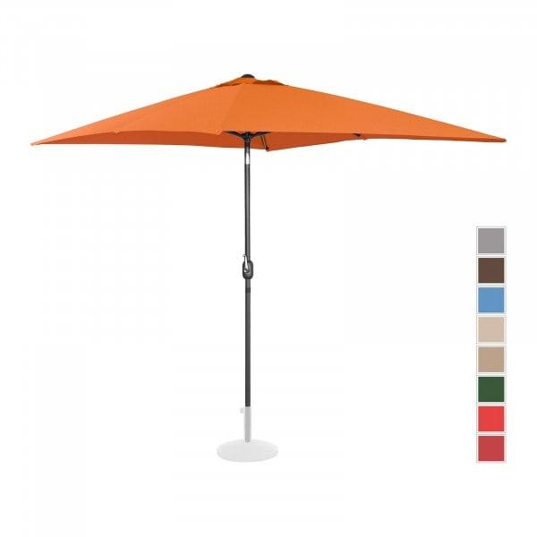 B-termék Nagy napernyő - narancssárga - szögletes - 200 x 300 cm - dönthető
