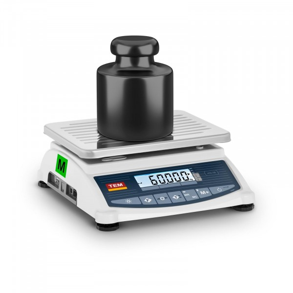 B-termék Asztali mérleg - hitelesített - 60 kg / 20 g - LCD - memória