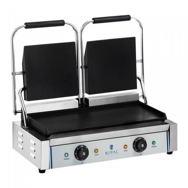 Dupla kontakt grill - sima - 2 x 1.800 W