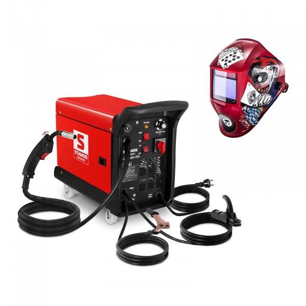 Hegesztő készlet Multifunkcionális hegesztő 195 A - 230 V - hordozható + Hegesztő sisak – Pokerface – PROFESSIONAL SERIES