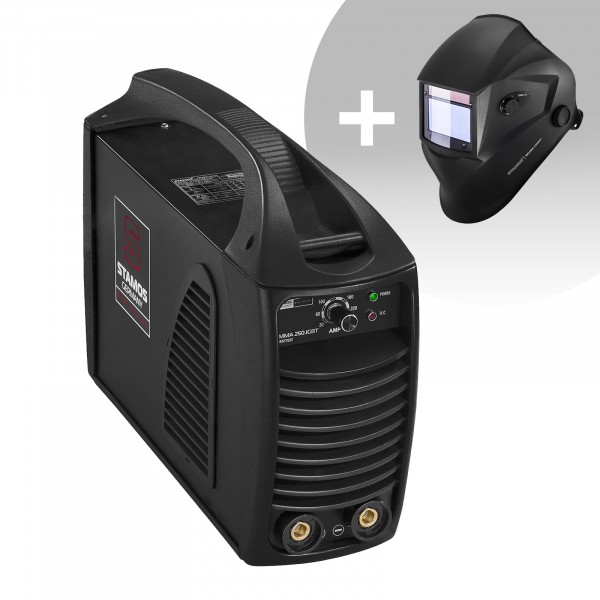 Hegesztő készlet MMA hegesztőgép - 250 A - Hot Start - IGBT - PRO + Hegesztősisak - Blaster - ADVANCED SERIES