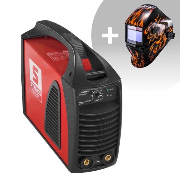 Hegesztő készlet MMA hegesztőgép - 200 A - Hot Start - IGBT + Hegesztő sisak - Firestarter 500 - ADVANCED SERIES