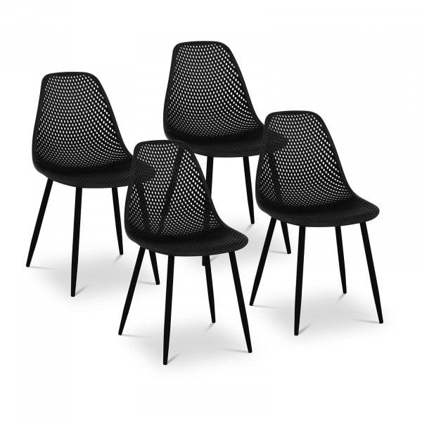B-termék Szék - 4 db-os készlet - 150 kg-ig - ülőfelület 52 x 46,5 cm - fekete