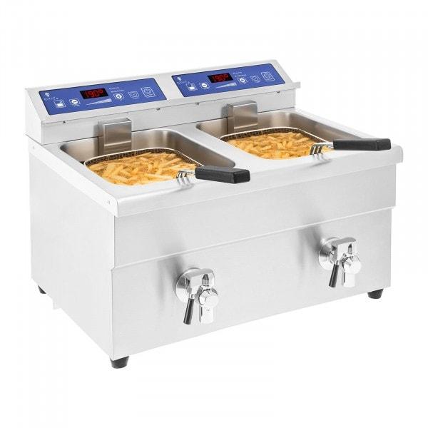 Indukciós fritőz - 2 x 10 liter - 60 - 190 ° C