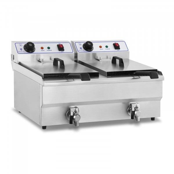 Elektromos olajsütő - 2 x 16 liter - 230 V