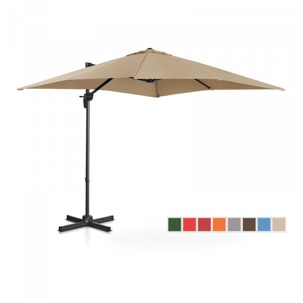 B-termék Lámpa formájú napernyő - tópszínű - szögletes - 250 x 250 cm - forgatható