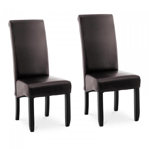 B-termék Kárpitozott szék - 2 darabos készlet - 180-ig kg - ülőfelület 44,5 x 44 cm - sötétbarna