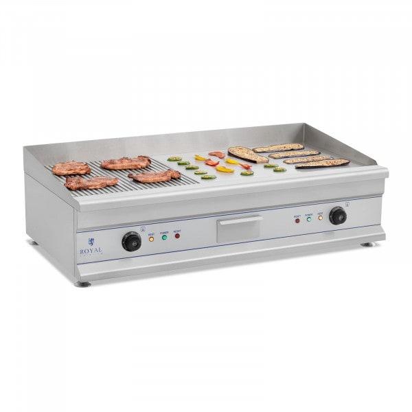 Elektromos grill - 100 cm - bordázott felületű - 2 x 3,2 kW