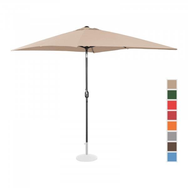 B-termék Nagy napernyő - krémszínű - szögletes - 200 x 300 cm - dönthető