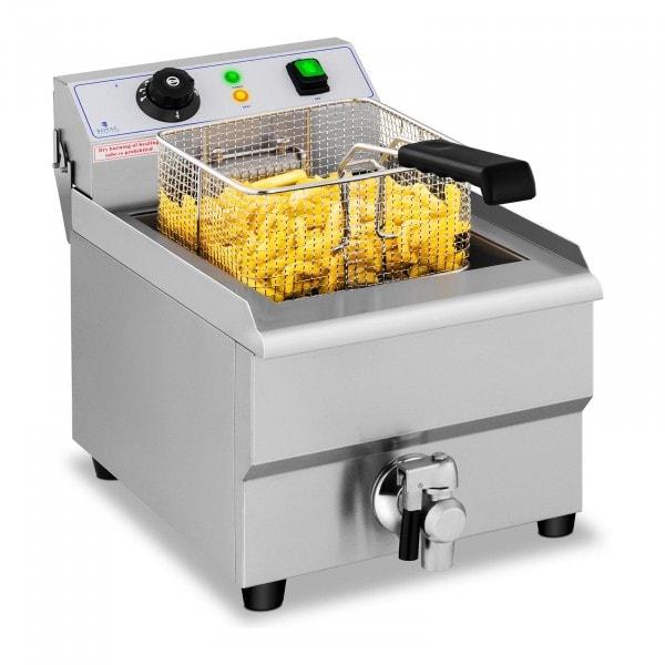 Vendéglátóipari fritőz - 16 liter - leeresztő csap - 230 V