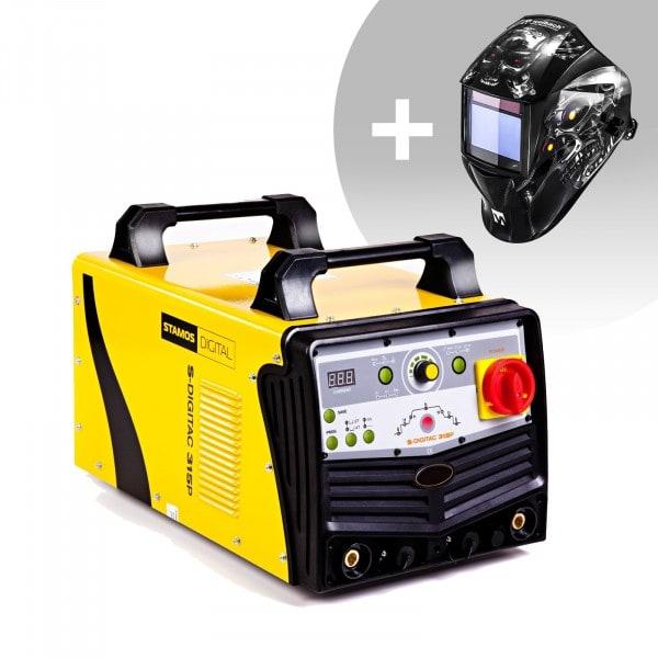 Hegesztő készlet ALU hegesztő - 315 A - 400 V - impulzus - digitális - 2/4 ütem + Hegesztő sisak - Metalator - EXPERT SERIES