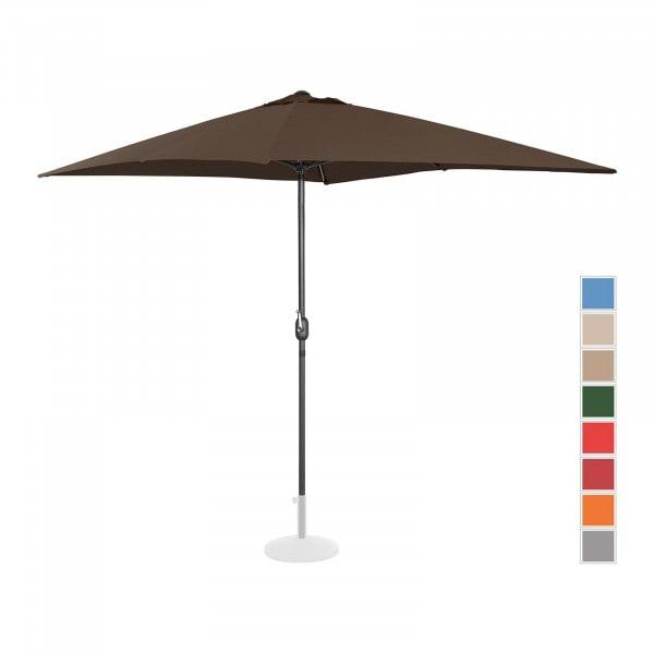 B-termék Nagy napernyő - barna - szögletes - 200 x 300 cm