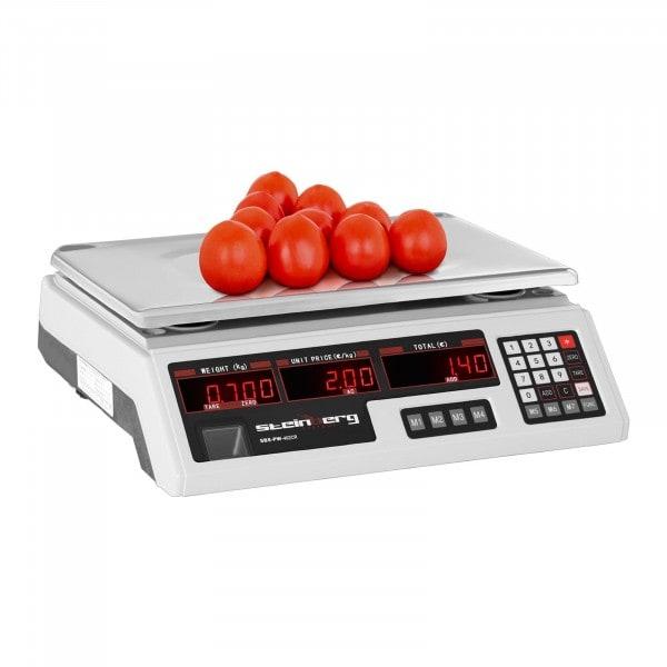 B-termék Ellenőrző mérleg - 40 kg / 2 g - 33 x 24 x 0,6 cm
