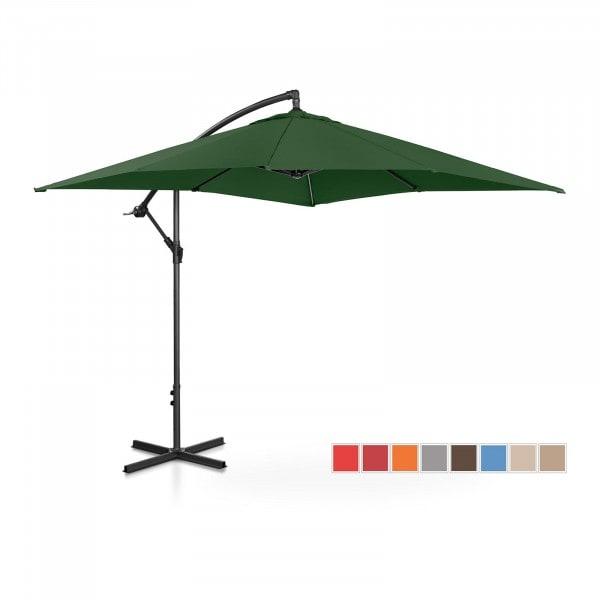 B-termék Lámpa formájú napernyő - zöld - szögletes - 250 x 250 cm - dönthető