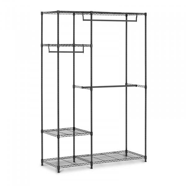 B-termék Fém ruhatartó állvány - 120 x 45 x 179,5 cm - 270 kg - fekete
