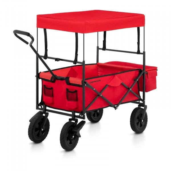 B-termék Összecsukható kerti kocsi tetővel - piros - fékkel