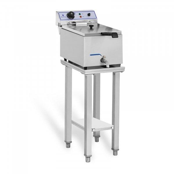 Elektromos fritőz - 1 x 17 liter - asztallal