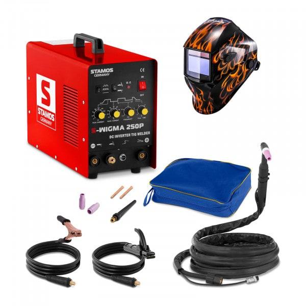 Hegesztő készlet TIG hegesztő - 250 A - 230 V - impulzus + Hegesztő sisak - Firestarter 500 - ADVANCED SERIES