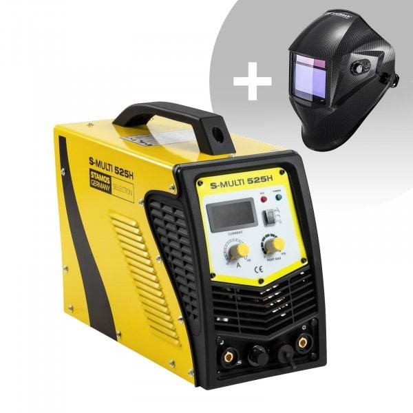 Hegesztő készlet Multifunkciós hegesztőgép - TIG 180 A - 40 A Cut - E-kézi + Hegesztő sisak – Carbonic – PROFESSIONAL SERIES