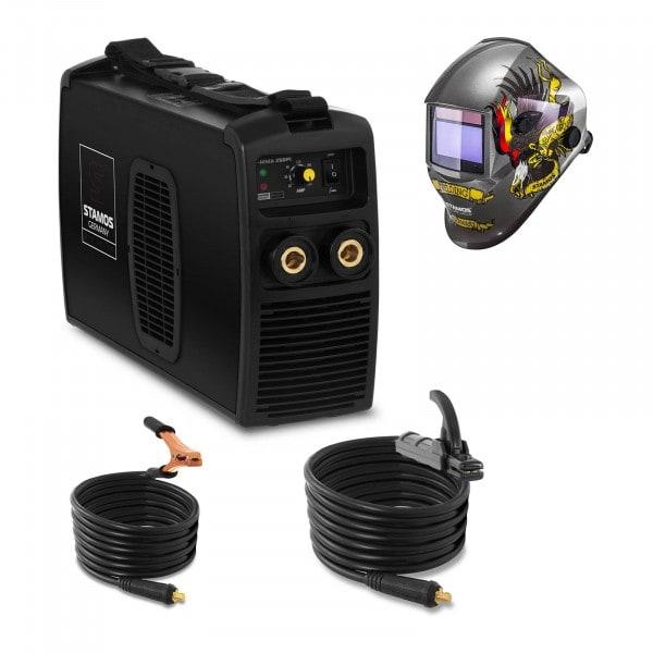 Hegesztő készlet MMA hegesztőgép - 250 A - 230 V - IGBT + Hegesztő sisak - Eagle Eye – ADVANCED SERIES