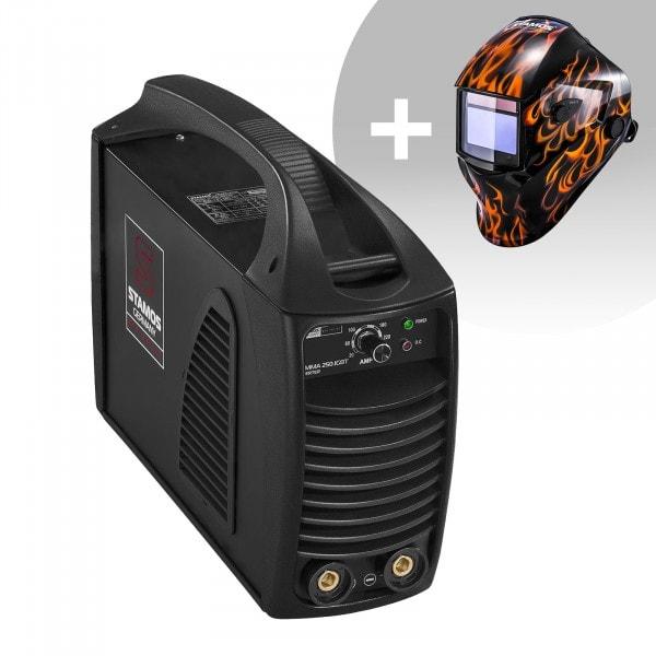 Hegesztő készlet MMA hegesztőgép - 250 A - Hot Start - IGBT - PRO + Hegesztő sisak - Firestarter 500 - ADVANCED SERIES