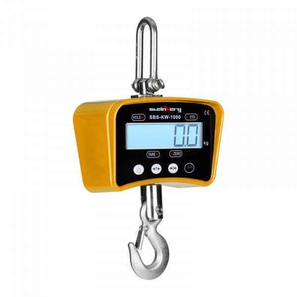 Függeszthető darumérleg - 1.000 kg / 0,2 kg - sárga