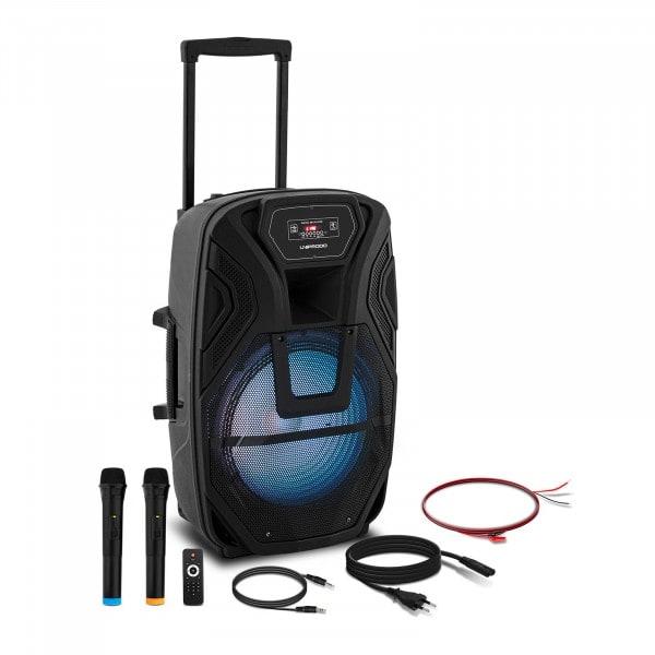 B-termék Mobil PA rendszer - 2 mikrofon - távirányító - 50 W