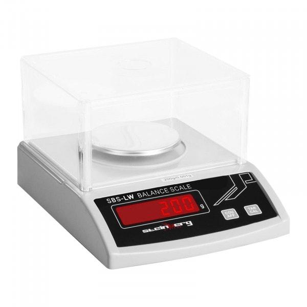 B-termék Precíziós mérleg- 200 g / 1 mg - fehér