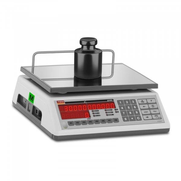 B-termék Darabszámláló mérleg - hitelesített - 30 kg/10 g