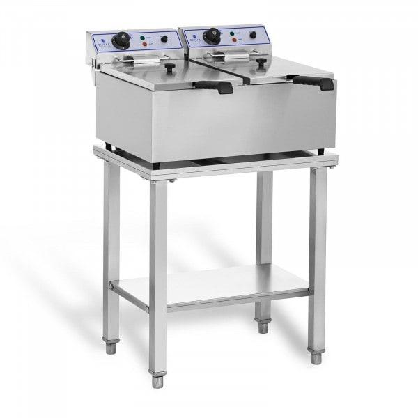 Elektromos fritőz - 2 x 17 liter - asztallal