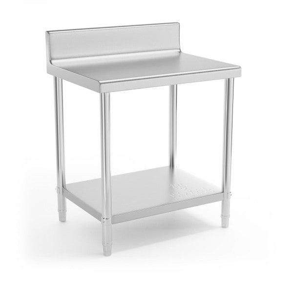 B-termék Rozsdamentes acél asztal - 80 x 60 cm - karimával- 190 kg terhelhetőség
