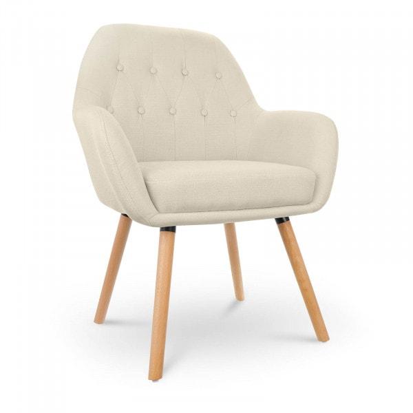 B-termék Kárpitozott szék - 150 kg-ig - ülőfelület - 45 x 42 cm - bézs