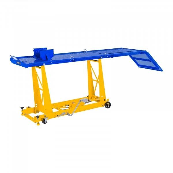 Motoremelő szerelőpad rámpával - 450 kg - 206 x 55 cm