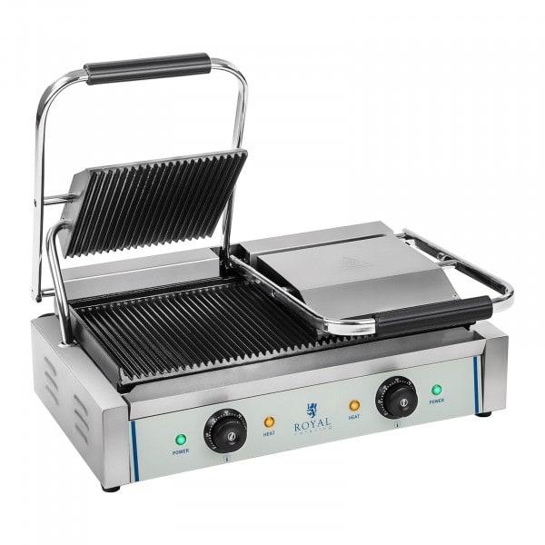 Kontakt grill - 2 x 1.800 Watt - bordázott - 2.0