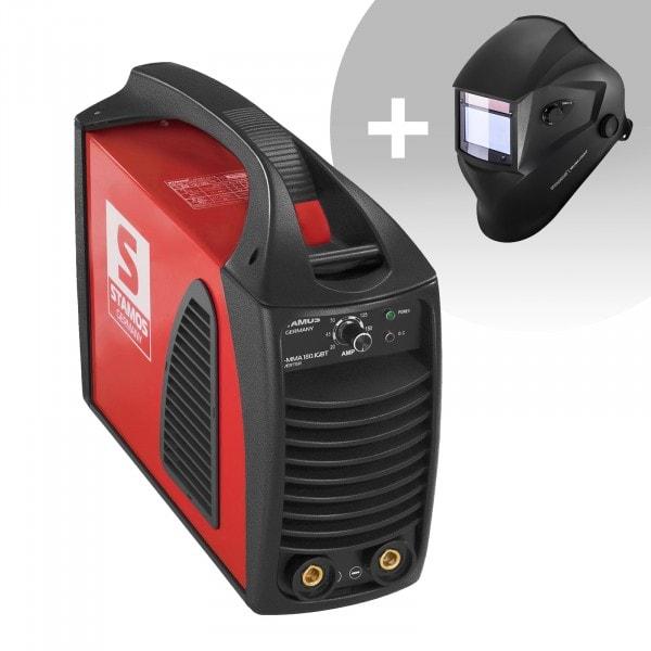 Hegesztő készlet MMA hegesztőgép - 180 A - Hot Start - IGBT + Hegesztősisak - Blaster - ADVANCED SERIES