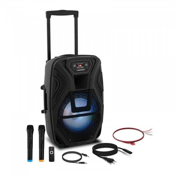 B-termék Mobil PA rendszer - 2 mikrofon - távirányító - 40 W