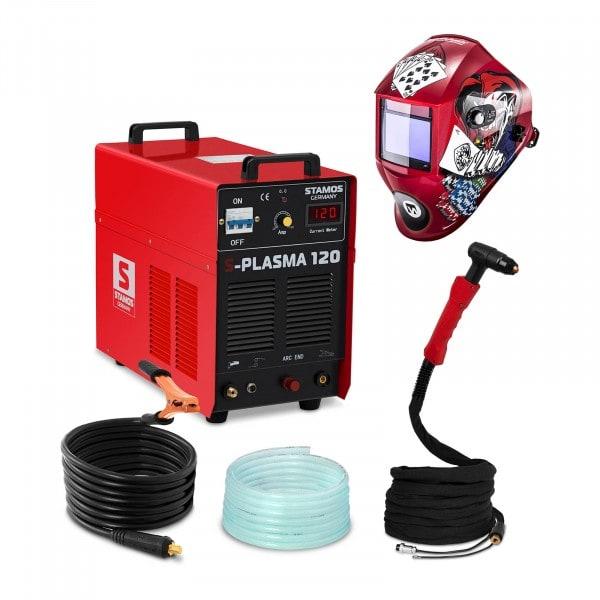 Hegesztő készlet Plazma vágó - 120 A - 400 V - Pilot gyújtás + Hegesztő sisak – Pokerface – PROFESSIONAL SERIES
