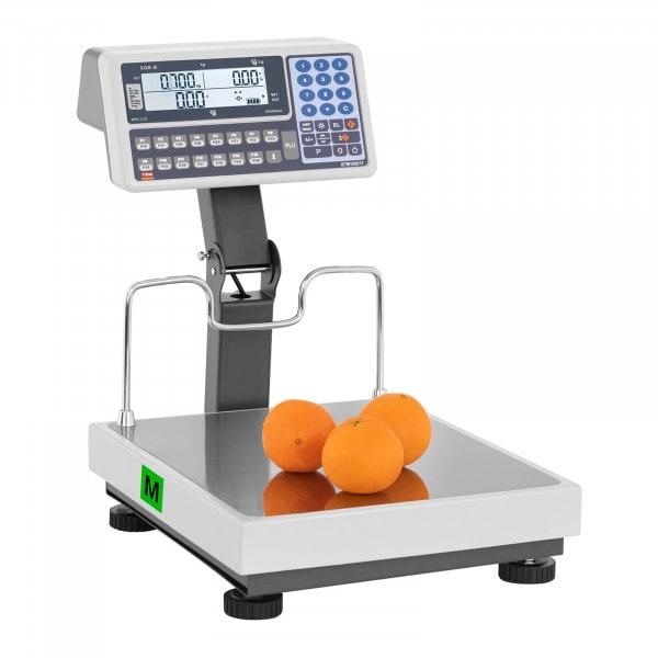 B-termék Árszorzós mérleg magas jelzővel - hitelesített - 15 kg/5 g - 30 kg/10 g