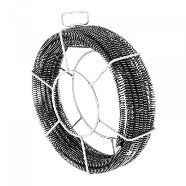 Lefolyótisztitó spirál csomag - 5 x 2,3 m - Ø 15 mm
