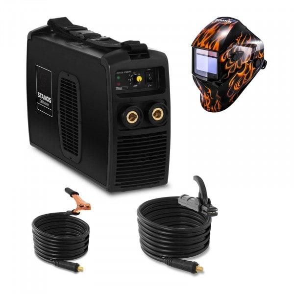Hegesztő készlet MMA hegesztőgép - 250 A - 230 V - IGBT + Hegesztő sisak - Firestarter 500 - ADVANCED SERIES