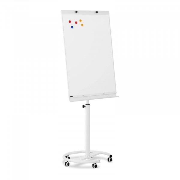 B-termék Flipchart tábla - 70 x 100 cm - mágneses - állítható magasságú - 5 kerék