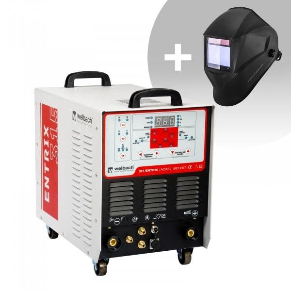 Hegesztő készlet ALU hegesztő - 315 A - 400 V - impulzus - digitális - 2/4 ütem + Hegesztő sisak - BlackONE – EXPERT SERIES
